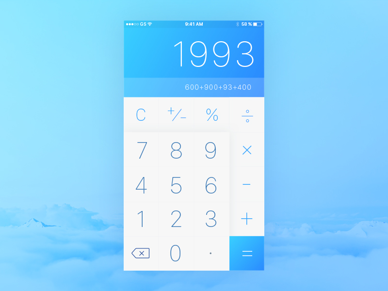 Calculator design iOS